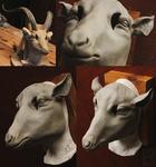 Yule Goat Mask Sculpt! by Nymla