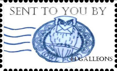 Owl Post Stamp By Goodfrnd877 On DeviantArt