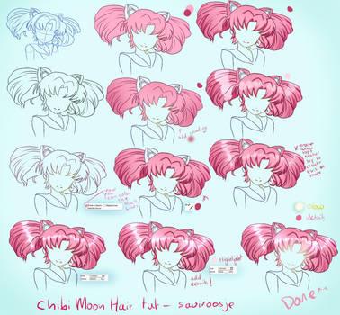 Step By Step - Chibi Moon Hair Tut by Saviroosje