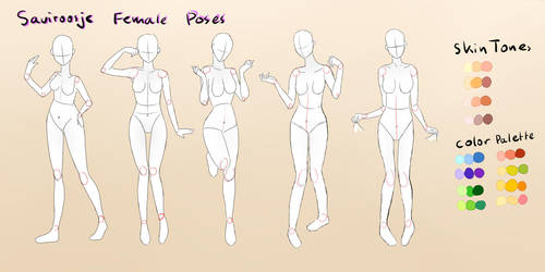 .Female Pose Reference. by Saviroosje