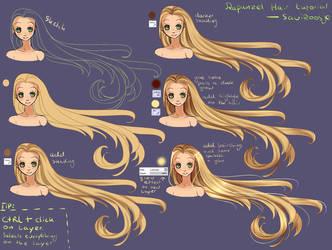 Step by Step - Rapunzel hair TUTORIAL by Saviroosje