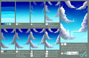 Step by Step - Cloud TUTORIAL + video by Saviroosje