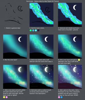 Step by Step - Galaxy background by Saviroosje