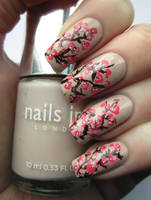 Pink Blossom Nail Art by soyoubeauty