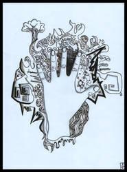 Artist's hand by JoelLorenzetti