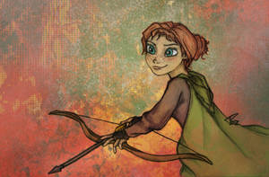 Anna the Archer (Fire and the Snow Queen) by PazGranger