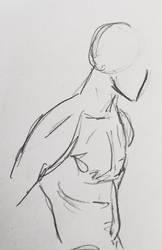 Male body sketch  by teejyart