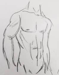 Male figure sketch  by teejyart