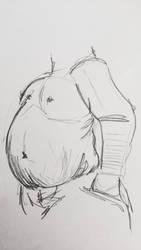 Male body drawing  by teejyart