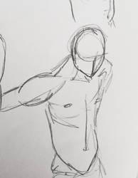 Male drawing by teejyart