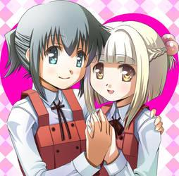 Nazuna and Nori by umebositora