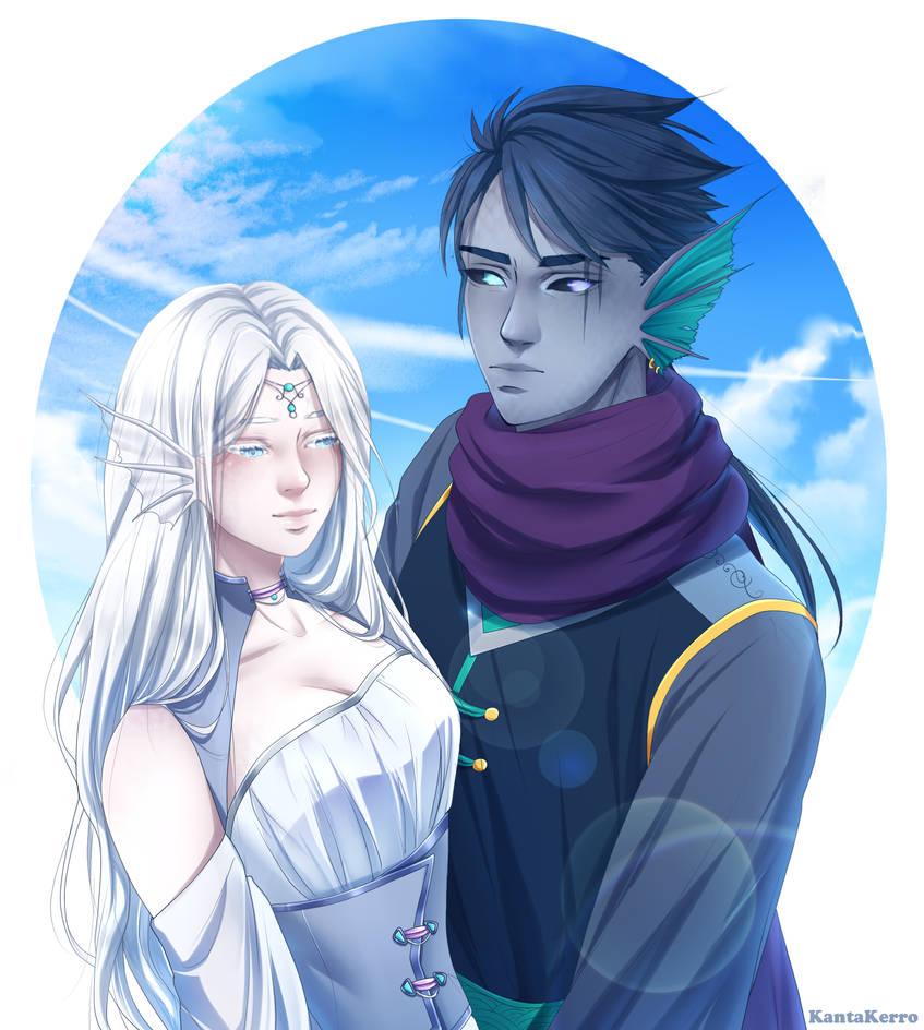 Eldarya OC's parents by KantaKerro