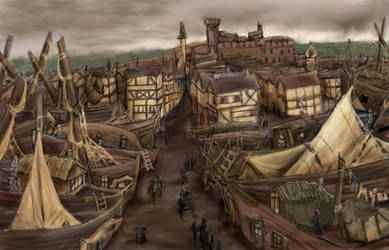The City of Gulenstraad by skycladstrega
