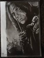 Severus Snape - Alan Rickman drawing FINISHED by MelieseReidMusic