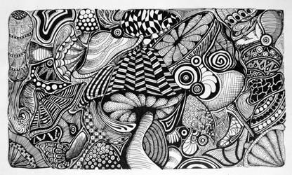Mushroom-doodles by vedica