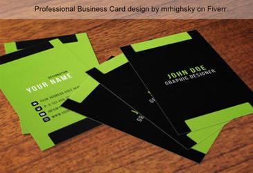 Green tech vertical  business card by MrHighsky