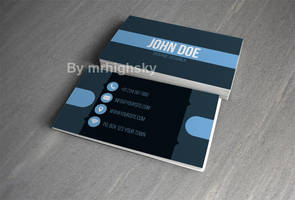 Cool blue business card by MrHighsky