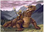 Dragon and woman by alvenon