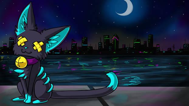 Felisneon Night time by AlkseeyaKC