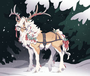 Christmas Ribbon Advent by TigerHunting