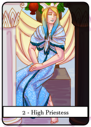 Tarot 2 - High Priestess by crazyshiro