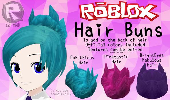 [MMD Parts] ROBLOX - Hair buns by RBLX2MMD