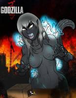 female Godzilla ( Atomic Breath ) by ultimateEman