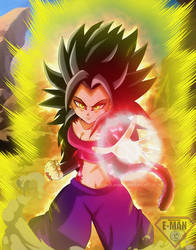 (SSJ4) Caulifla by ultimateEman
