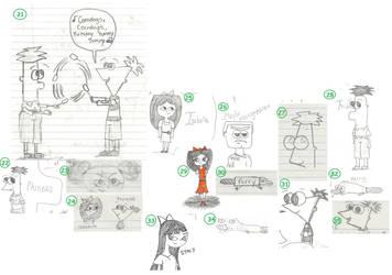 09-10 School Year Sketches Pg2 by Genincat