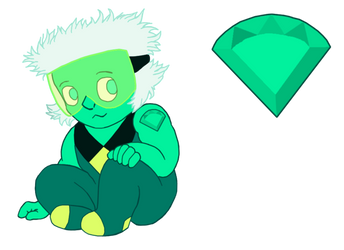 Green Spinel: Gemling Adopt D4 by UmbraFoxPaws