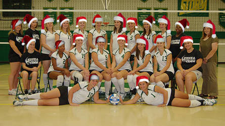Volleyball Xmas Card Year 1 by bottomofastairwell