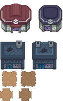 Tons of Tileset 2/10 - Fear Town Tileset by Phyromatical