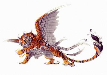 Clanheart: Kitsune Tiger by chutkat