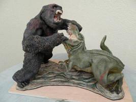 Kong vs v_rex by Thegarethpowell
