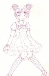 Sweet lolita sketch by xsweetxXcandyx