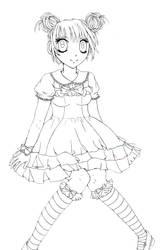Sweet lolita lineart by xsweetxXcandyx