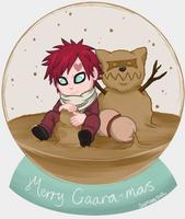 Christmas 'Sand' Globe by Sandy--Apples