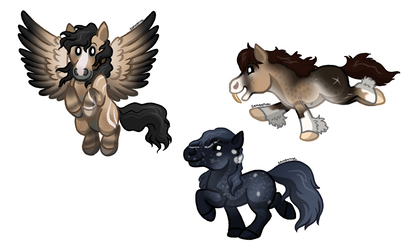 [SQUISHIES] Roe, Fig and Percival by Sandy--Apples