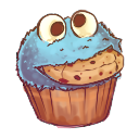 cookie monster cupcake by Herzlose