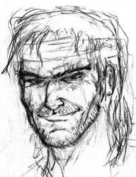 solid snake sketch by danolas
