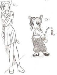 Kiti and Oki by Akumi-San