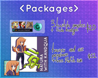 Commission Packages reference sheet by darside34