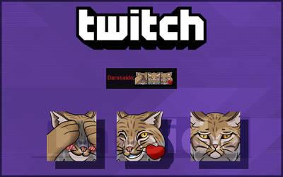 COMMISSION - Lynx twitch emotes by darside34