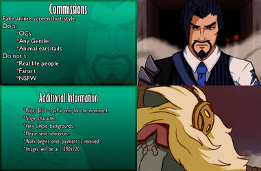 Commission sheet - Anime screenshot commissions by darside34