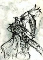 Kingdom Hearts Cloud Sketch by Ex-Soldier-Cloud