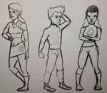 American Dragon: WotF-Rose, Jake and Trixie sketch by srebak