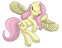 Fluttershy slumbering peacefully by DataPony