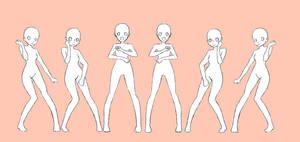VJ Dance Base 2 Frames by BADdoodle