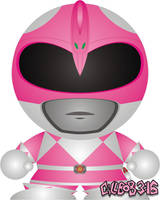 Mighty Morphin' - Pink by Gillbob316