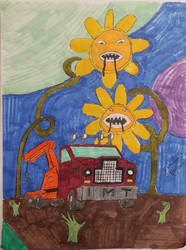 Sunflowers and Zombie Hands by jweinrub